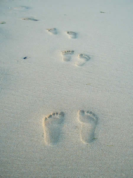 Footprints in the sand ... you won't want to leave