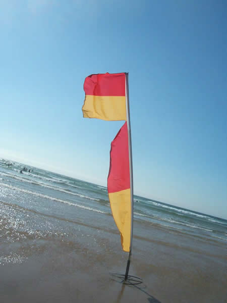 Lifeguard's flag