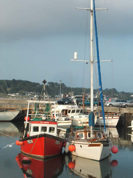Boats in Padstow harbour